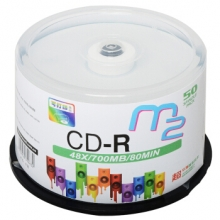 麦克赛尔(Maxell ) M2系列48速700M CD-R光盘 刻录光盘 桶装50片