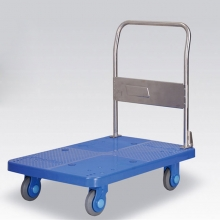 国产 PLA300 平板手推车 承重300KG 固定扶手  910*210*610MM 蓝色
