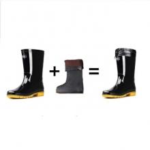 回力 807高筒加绒保暖雨鞋  尺码请备注