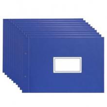 得力 3461 账夹(蓝)-16K(2片/付) 10/盒/60/箱