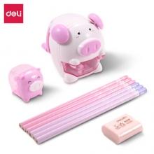 得力 68900 猪生肖文具套装(粉) 6/盒/48/箱