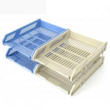 晨光 ADM94742 二层文件盘 蓝色  9个/箱