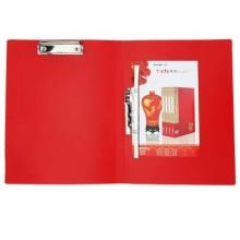 广博  A2054  A4长押+板夹文件夹(中国红系列)