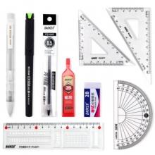 宝克(BAOKE)KS002 金榜题名考试套装 绘图套尺+中性笔+涂卡铅笔+笔芯+橡皮 (计价单位:套)