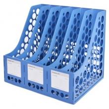 齐心 B2116 标准型资料架/文件框 六格 蓝