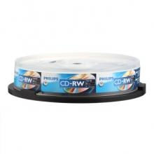 飞利浦(PHILIPS)PH CD-RW 可擦写空白刻录盘/光盘 700M 10片装