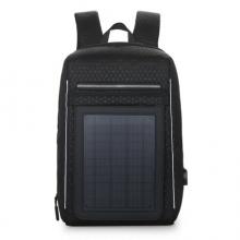 斯莫尔(SIMOER)SL-6017 太阳能USB充电双肩包 商务书包黑色