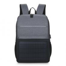 斯莫尔(SIMOER)SL-6016 韩版双肩包 太阳能充电背包灰色