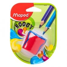 马培德 Maped 欢悦双孔卷笔刀/彩铅削笔器/铅笔削笔器/转笔刀/卷笔刀 红色 062210CH