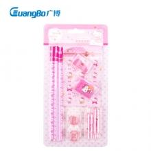 广博(GuangBo)KT90016 10件套文具套装(铅笔/握笔器/橡皮/笔记本子) 凯蒂猫 (计价单位:套)