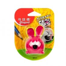 马培德(Maped) 大牙兔卷笔刀 粉绿 创意转笔刀 小学生儿童卡通设计削笔器 017610CH