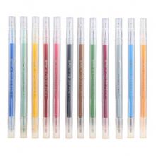 金万年 G-0581  简约良品双头书写12色套装彩色水性笔-多颜色