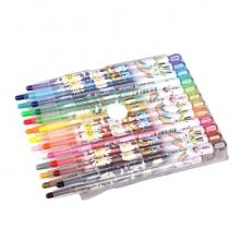 金万年 G-0176  蜡妹子长杆24色套装旋转蜡笔-多颜色