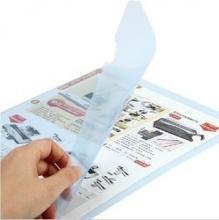 齐心(COMIX) E310 L型二页文件套 A4 透明白 10个/包 12包/箱 (透明白)