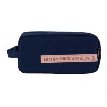 晨光(M&G) APBN3679 smile系列 深蓝色大号方形笔袋