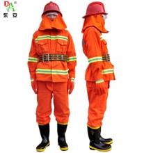 宏兴(Hong Xing)97款消防战斗训练服定做消防员灭火防护服抢险救援服消防指挥服 红色 L#43# 五件套