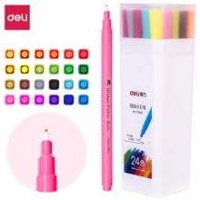 得力(deli) 70692 24色纤维笔头描线水彩笔 24色