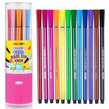 得力(deli) 7065 绚丽多彩可洗水彩笔/绘画笔 12色/筒