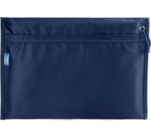 渡美(Dumei) NF-393 A4牛津布滑面双层拉链文件袋38.4*27.2cm 深蓝色