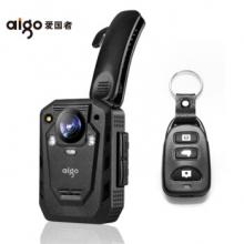 爱国者(aigo)执法记录仪DSJ-T6 遥控1296P高清红外夜视红蓝爆闪11小时连续录像三防加密激光定位内置128G