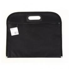 齐心(COMIX) A1670 双层帆布手提文件袋 B4 黑色