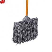 谋福 65 木杆拖把棉线老式墩布尘推拖布 吸水拖把( 蓝白40cm加固款干杆)