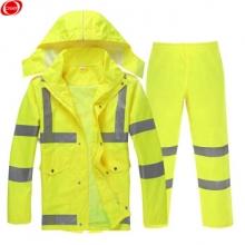 谋福 8010系列 荧光黄反光雨衣 分体雨衣雨裤套装 (荧光黄分体款 3XL180)