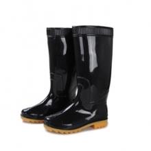 谋福 8423 雨靴 牛津鞋底 橡胶鞋 防水防滑 黑色 高筒靴 43码