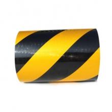 谋福 CNMF 8407反光胶带 反光标识警戒线墙贴 反光膜警示胶带 长45.7米(10cm宽 黄黑色 )