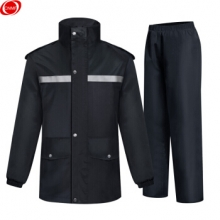 谋福 CNMF 0019新款雨衣劳动防护分体雨衣套装  巡逻雨衣 LB0019加厚款2XL
