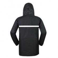 谋福 黑色分体雨衣雨裤套装双层防雨水安全反光条 (XL-4XL)