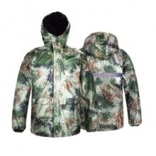 谋福 迷彩分体式雨衣雨裤套装 双层防水 隐藏式帽子(L-4XL)
