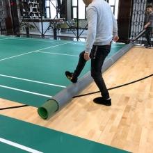 艾力特 羽毛球地胶垫收卷器 球馆专业帆布收卷器