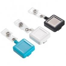 齐心(COMIX) A7938 多彩伸缩易拉扣胸卡证件挂绳 方形