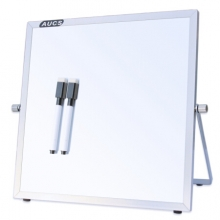 AUCS Z2525H桌面白板写字板25*25cm 磁性双面办公支架