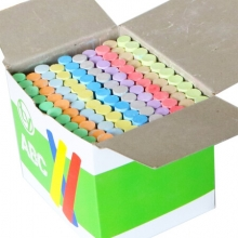 小质  绿板黑板报无尘粉笔 普通彩色粉笔(100支/盒)