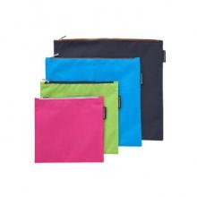 齐心(COMIX)A2156 A5单层彩色防水收纳袋文件袋 颜色随机