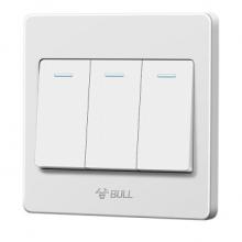 公牛(BULL) G07K312C G07系列开关插座 三开双控开关 86型面板白色 暗装
