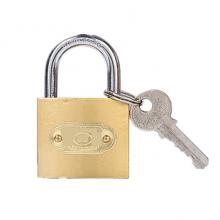 国产 仿铜通开挂锁 50mm不通开锁(配3把钥匙)