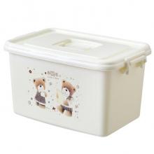 国产 塑料收纳箱整理箱有盖 大号 42*28*25cm