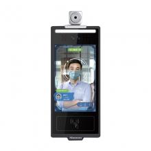 汉王(Hanvon)HW-M0816A 非接触式人证核验终端8英寸触屏智能人脸考勤机双目动态活体检测 琥珀壁挂版(测温版)