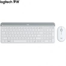 罗技(Logitech)MK470 键鼠套装 无线键鼠套装 芍药白 带无线2.4G接收器