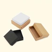 国产 礼品盒小号天地盖现货纸盒子茶叶香皂方巾饰品包装盒  本色(350克黄色牛皮纸) 11.5*9.5*3.8cm