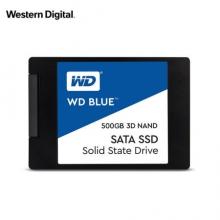 西部数据(WD)500GB SSD固态硬盘 SATA3.0接口 Blue系列-3D进阶高速读写版