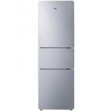 TCL BCD-210TF1 210升三开门冰箱直冷节能高效静音家用电冰箱 泰坦银