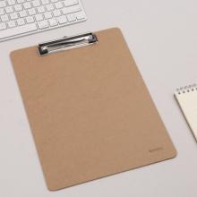 晨光(M&G)文具A4原木色纤维板书写板夹 记事夹文件夹 写字垫板 单个装ADM94877