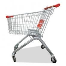 皇球超市购物车手推车商场单层提篮车便利店购物筐车小区物业推车 180L高配款
