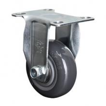 易得力(EDL) 定向聚氨酯(PU)脚轮,脚轮轻型4寸8Okg,36104-364-76
