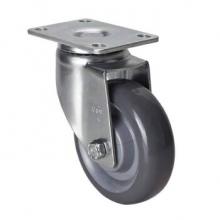 易得力(EDL) 50114-504- 平顶方向聚氨酯(PU)脚轮 脚轮中型4寸130kg