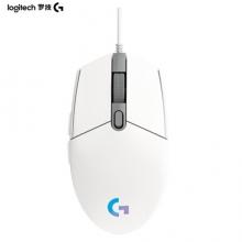 罗技 G102 有线鼠标 白色